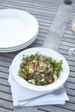 De salade van de kouskous op openluchtlijst Royalty-vrije Stock Afbeelding