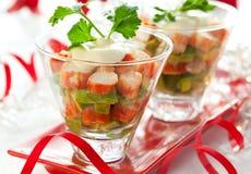 De salade van de krab met avocado Stock Foto's