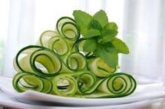 De salade van de lintkomkommer met munt Royalty-vrije Stock Foto