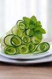 De salade van de lintkomkommer met munt Royalty-vrije Stock Afbeelding