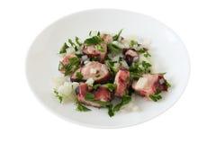 De salade van de octopus Royalty-vrije Stock Foto
