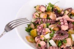 De salade van de octopus. Stock Foto