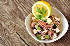 De salade van de octopus Stock Afbeeldingen