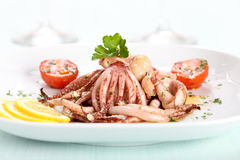 De salade van de octopus Royalty-vrije Stock Fotografie
