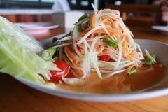 De salade van de papaja met krab Royalty-vrije Stock Fotografie