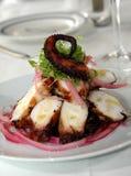 De salade van de pijlinktvis stock afbeeldingen