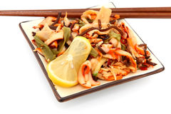 De Salade van de pijlinktvis stock fotografie