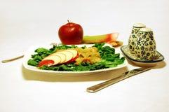 De salade van de rabarber en van de spinazie Stock Foto's