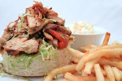 De salade van de sandwich Stock Afbeelding