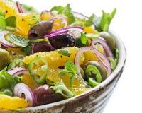De Salade van de sinaasappel en van de Olijf stock foto