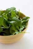 De Salade van de spinazie Stock Afbeeldingen