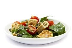 De Salade van de spinazie en van de Kip Stock Fotografie