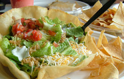 De salade van de taco stock afbeelding
