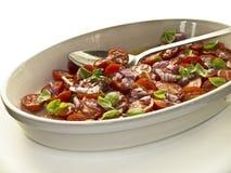 De salade van de tomaat royalty-vrije stock afbeelding