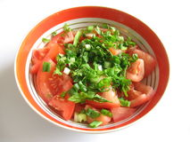 De salade van de tomaat royalty-vrije stock fotografie
