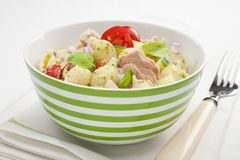 De Salade van de tonijn stock fotografie