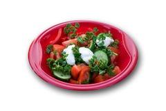 De Salade van de tuin bij een Picknick (met het Knippen van Weg) Royalty-vrije Stock Afbeeldingen