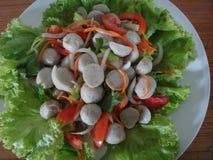 De salade van de vissenbal Stock Foto