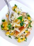 De salade van de vork en van de kip Royalty-vrije Stock Afbeeldingen