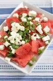 De Salade van de watermeloen Stock Afbeelding