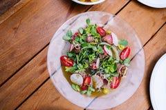 De salade van de witte waterkers Royalty-vrije Stock Foto