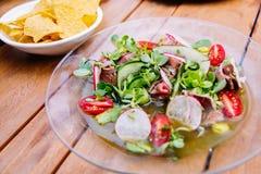 De salade van de witte waterkers Stock Foto's