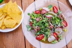De salade van de witte waterkers Royalty-vrije Stock Fotografie