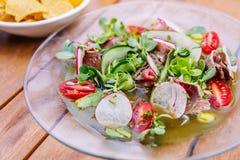 De salade van de witte waterkers Royalty-vrije Stock Afbeeldingen