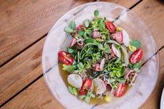 De salade van de witte waterkers Stock Fotografie