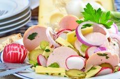 De salade van de worst Royalty-vrije Stock Fotografie