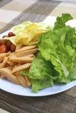 De Salade van de worst Royalty-vrije Stock Foto