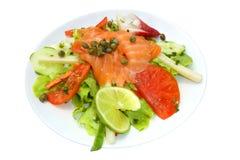 De salade van de zalm stock afbeeldingen