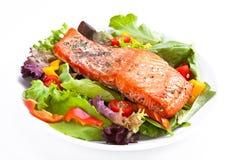 De salade van de zalm Stock Afbeelding