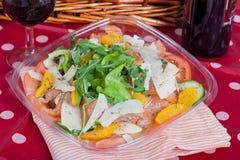 De salade van de zalm Stock Foto's
