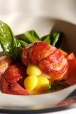 De Salade van de zeekreeft stock foto's