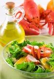 De salade van de zeekreeft Royalty-vrije Stock Foto's