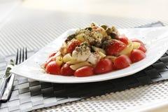 De salade van deegwaren Stock Afbeelding