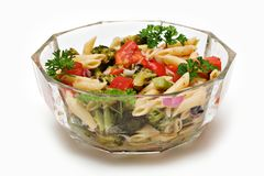 De Salade van deegwaren Royalty-vrije Stock Foto