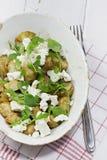 De Salade van feta en van de Aardappel stock foto