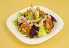 De Salade van garnalen Royalty-vrije Stock Foto's