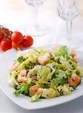 De salade van garnalen royalty-vrije stock fotografie