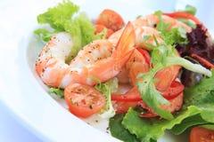 De Salade van garnalen Stock Foto