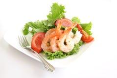 De Salade van garnalen Stock Foto's
