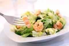 De salade van garnalen - slik DOF- stock foto