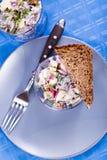 De salade van haringen Stock Foto's