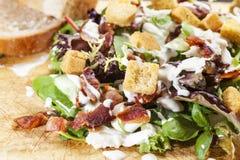 De Salade van het bacon Stock Foto's