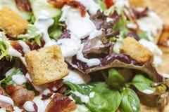 De Salade van het bacon Royalty-vrije Stock Afbeeldingen