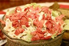 De salade van het bacon royalty-vrije stock foto's