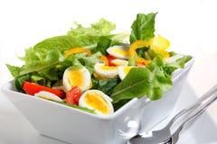 De salade van het ei en van de tomaat Stock Afbeelding
