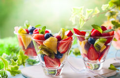 De salade van het fruit en van de bes stock afbeeldingen